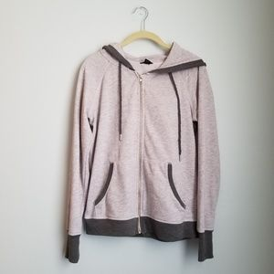 Champion elite pink and gray zip up hoodie